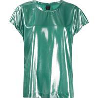 Pinko Blusa Fasrisa 17 Laminada - Verde