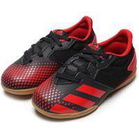 Chuteira Adidas Performance Menino Predator 20 4 In Jr Preta/Vermelha