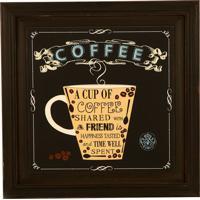 Quadro Decorativo De Parede Com Moldura Cup Of Coffee