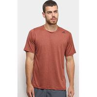Camiseta Adidas Fleelift Tech Fitted Masculina - Masculino-Marrom
