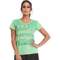 Blusa Baby Look Com Silk Obbia - Feminino-Verde