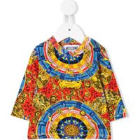 Moschino Kids Camiseta Com Estampa Barroca - Vermelho