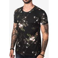 Camiseta Algodão Preta 103169
