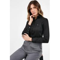 Camisa Social Preta Personalizada
