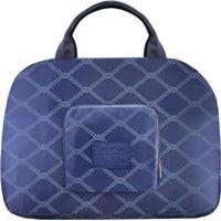 Bolsa De Viagem Dobrável- Azul & Azul Claro- 35X41X1Jacki Design