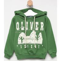 """Blusã£O """"Oliverâ® Desert"""" - Verde & Branco- Oliveroliver"""