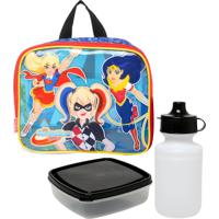 Lancheira Sestini Super Hero Girls Roxa/Preto