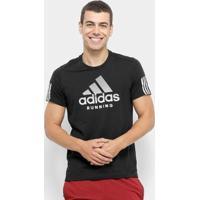 Camiseta Adidas Run It Tee Bos Masculina - Masculino-Preto