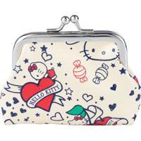 Porta Moedas Hello Kittyâ® Tattoo Old School- Bege & Vermurban