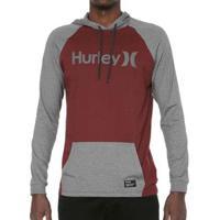 Camiseta Hurley Manga Longa Especial One&Only Masculina - Masculino-Cinza