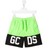Gcds Short De Natação Com Logo - Verde