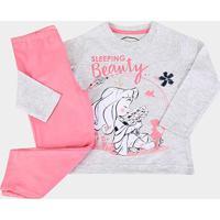 Pijama Infantil Evanilda Longo Disney Princesa Feminino - Feminino-Mescla