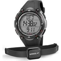 Monitor Cardíaco Speedo Jest 80565G0Epnp - Masculino-Chumbo+Cinza