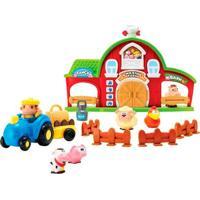 Playset Com Mini Figuras E Veículos - Fazendinha - New Toys