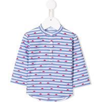 Siola Camisa Listrada Com Estampa De Barco - Azul
