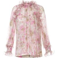 Zimmermann Blusa Super Eight Floral Com Babados - Rosa