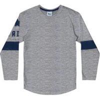 Camiseta Long Fit Infantil Trick Nick Cinza