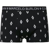 Marcelo Burlon County Of Milan Cueca Boxer 'Cross' - Preto