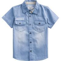 Camisa Jeans Estonada- Azul Claro- Kids- Mundimundi