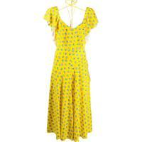 Lanvin Vestido Com Estampa De Conchas - Amarelo