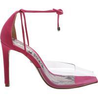 Sandália Salto Vinil Python Pink | Schutz