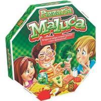 Jogo Pizzaria Maluca Tabuleiro - Unissex-Verde
