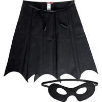 Fantasia Paçoca Morcego Preta