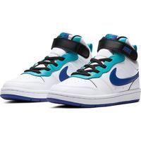 Tênis Infantil Cano Médio Nike Court Borough - Unissex