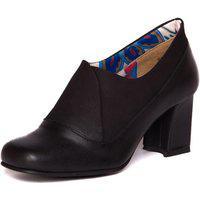 Sapato Preto Feminino Em Couro - Preto / Sued Flex Preto 6013