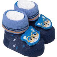 Sapatinho De Bebe Recem Nascido Menino Azul Marinho