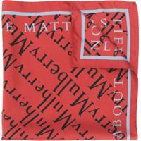 Mulberry Cachecol Com Logo Corrido - Marrom