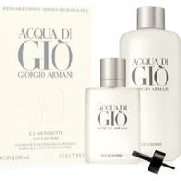 Giorgio Armani Acqua Di Giò Kit - Eau De Toilette 50Ml + Refil Edt 200Ml Kit - Masculino-Incolor