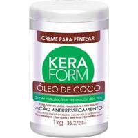 Creme Para Pentear Skafe Keraform Óleo De Coco - 1Kg - Unissex-Incolor