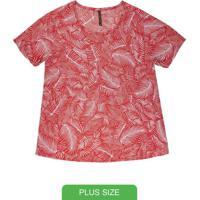 Blusa Com Estampa Rotativa Vermelho