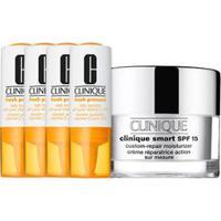 Kit Facial Clinique Fresh Pressed Vitamina C + Hidratante Para Pele Oleosa Smart Custom Repair