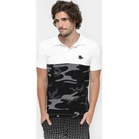 Camisa Polo Rg 518 Piquet Camuflada - Masculino