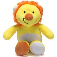 Chocalho De Pelucia Unik Toys Leão Amarelo