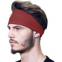 Bandana Headband Proteção Uv50+ Esportes Faixa Touca Slim Fitness - Masculino-Vinho
