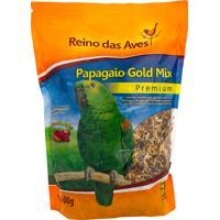 Ração Para Pássaro Reino Das Aves Papagaio Gold Mix Premium 500G