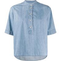 Ymc Blusa Jeans - Azul