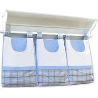 Porta Treco De Parede Padroeira Baby Casinha Menino Azul Bebê