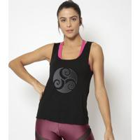 Regata Com Recortes Vazados- Preta- Physical Fitnessphysical Fitness
