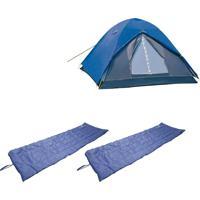 Barraca Camping Iglu Fox 3 Pessoas Nautika 155300 + 2 Colchonetes Leve E Resistente Camp Mat 252200