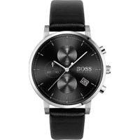 Relógio Hugo Boss Masculino Couro Preto - 1513777