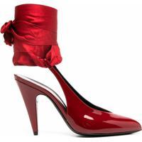 Saint Laurent Sapato Venus Com Tira Posterior - Vermelho