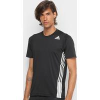 Camiseta Adidas True 3 Stripes Masculina - Masculino-Preto