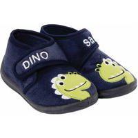 Pantufa Infantil Menino Dino Azul E Verde Stuf Sb0331D01D -25-26