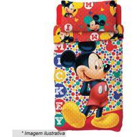 Jogo De Colcha Dupla Face Mickey® Solteiro- Vermelho & Alepper