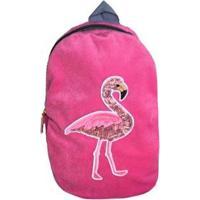 Mochila Infantil Ania Store Flamingo Feminino - Feminino-Rosa