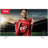 "Smart Tv Ultra Hd 4K Led 55"" Tcl P6Us Hdr Com Conversor Digital 3 Hdm"